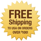 FREE Shipping to USA on orders over $100!